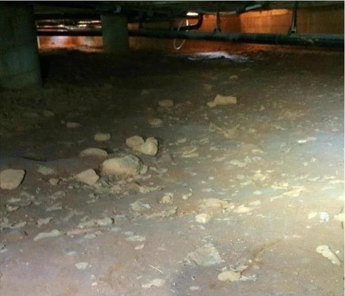 Cleaned out crawlspace only a few rocks left there